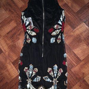 Sequin pencil dress